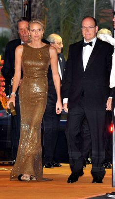 5.29.11  Charlene Lynette Wittstock in custom made Akris, with Prince Albert II, at 2011 Grand Prix de Monaco