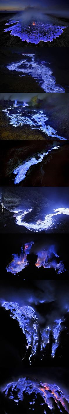Blue Lava, Ijen Crater - Indonesia ( I already have something like this in here, but this one hea more pictures)