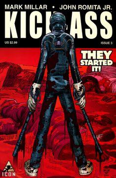 Kick-Ass #3 - art by John Romita Jr