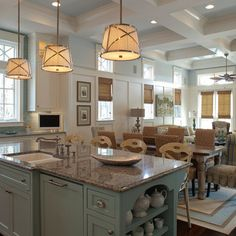 Williams Residence - traditional - kitchen - other metro - Geoff Chick & Associates-Benjamin Moore Iceberg, island is Jamestown Blue