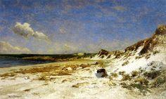 Wingaersheek Creek Beach, Gloucester, Massachusetts, huile sur toile de William Lamb Picknell (1853-1897, United States)