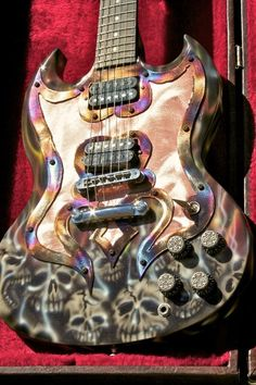 Cool rainbow skull SG electric