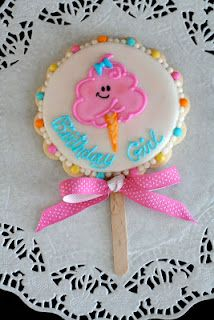 Cookies with Character: Cotton Candy Birthday Birthday Candy, Birthday Cookies, Special Birthday, Birthday Ideas, Happy Birthday, Galletas Cookies, Cute Cookies, Cupcakes, Cupcake Cookies