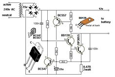 """a transformer) increasing the supply to a higher voltage to illuminate one or two LEDs in series. The """"LED Simple Electronics, Hobby Electronics, Electronics Basics, Electronics Components, Electronics Gadgets, Electronics Projects, Basic Electronic Circuits, Electronic Circuit Projects, Electronic Schematics"""