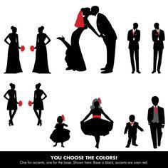 jpeg file of a wedding party silhouette for wedding programs 5 rh pinterest com Wedding Party Entrance Cartton Wedding Party