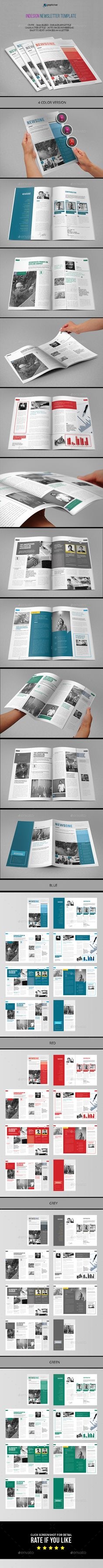 Indesign Newspaper Template In Format A3 Newsletter Template