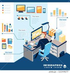 データ データー インフォグラフィックのイラスト