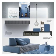 """""""The Blues"""" by snowbell ❤ liked on Polyvore featuring interior, interiors, interior design, home, home decor, interior decorating, Somerset Bay, Cappellini, Classique and Bernardaud"""