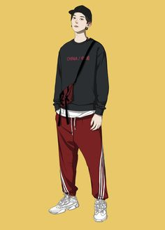 Gary Hsu Gary's media content and analytics Character Outfits, Character Art, Character Illustration, Illustration Art, Cover Wattpad, Fashion Art, Mens Fashion, Boy Drawing, Ligne Claire