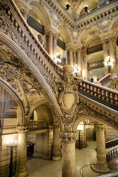 Awe-inspiring staircase remodel - go to our website for many more ideas! - Awe-inspiring staircase remodel – go to our website for many more ideas! Baroque Architecture, Ancient Architecture, Beautiful Architecture, Beautiful Buildings, Architecture Details, Grand Staircase, Staircase Design, Palaces, Paris France