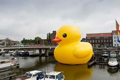 big rubber duck  Me: I LOVE rubber ducks! I saw this online one time is is a company and that is thier adviteser