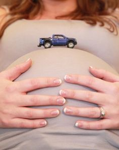 Great idea for a maternity session when having a boy.