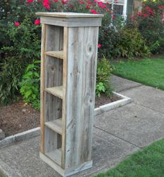 Bookcase, Wood Bookcase, Reclaimed Wood Bookcase