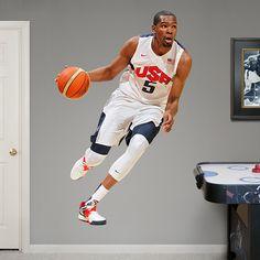 For Basement Gym - FatHead - Kevin Durant Team USA - USA Basketball - Olympic Games