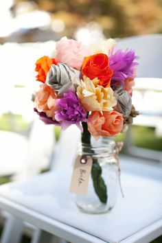 DIy flowers. You can use silk, or whatever works best for you!