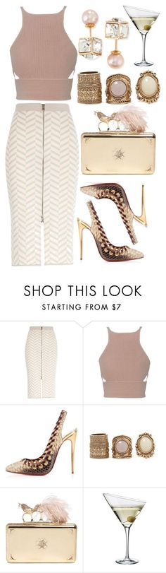 """Untitled #3769"" by dudas2pinheiro ❤ liked on Polyvore featuring River Island, Jonathan Simkhai, Christian Louboutin, Forever 21, Alexander McQueen, Eva Solo and Vita Fede"