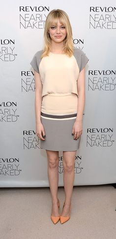 Emma Stone - Emma Stone Revlon's NEW Nearly Naked Makeup Launch