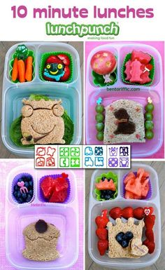 Bentoriffic shows us how fast and easy it is to make fun lunches with The Lunch Punch and @EasyLunchboxes