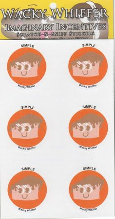 Wacky Whiffer Scratch and Sniff Stickers Orange Caramel Cake Scent  ITM#SII053E3 #WackyWhiffer #ScratchSniff