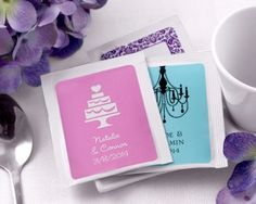 Personalized Wedding Tea Favors (Many Designs) by FavorIdeas