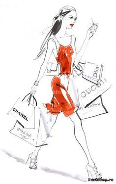 Знакомство с Jacqueline Bissett и её модными иллюстрациями