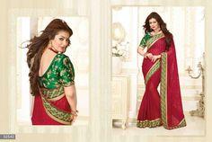 Ayesha Takia Designer Embroidered Brasso Saree with Raw Silk Blouse (Catalog - Party Sarees, Bollywood Party, Green Saree, Design Show, Party Wear, Awards, Sari, Photoshoot, Blouse