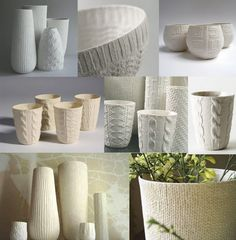 They have been created by Annette Bugansky who trained and worked in fashion and costume design before becoming a ceramicist, which really shows in her work. Costume Design, Tea Pots, Candle Holders, Objects, Pottery, Knitting, Teapot Design, Handmade, Inspiration