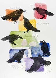 """Seven Crows"" for Cat, by Prem Krishnan."