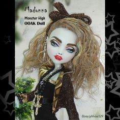 Madonna 80's Monster High OOAK Doll | eBay