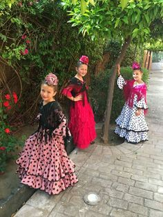 Spanish Flowers, Bohemian Style, Boho, Traditional Dresses, Cute Kids, Harajuku, Flamenco Dresses, Girls Dresses, Plus Size