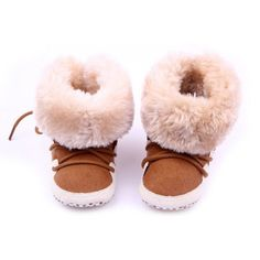 New Baby Shoes Winter Warm Snow Boots Fleece Soft Soled Crib Toddler Sneakers First Walkers S01