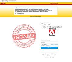 DHL 'Delivery Notification' Adobe ID Phishing Scam