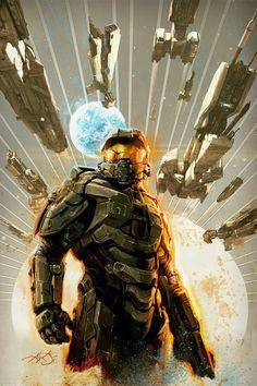 Halo / Masterchief by Aleksi Briclot on ArtStation Halo Master Chief Helmet, Master Chief Armor, Master Chief Costume, Master Chief And Cortana, Halo Master Chief Collection, Halo Collection, Halo Game, Halo 3, Chiefs Wallpaper