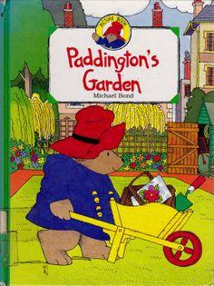 vintage kids book Paddington's Garden by Michael Bond, beloved British icon Paddington Bear, marmalade mayhem, preschool gardening story
