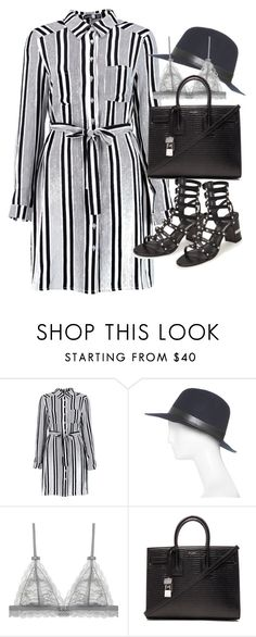 """""""Untitled #19463"""" by florencia95 ❤ liked on Polyvore featuring Hat Attack, Yves Saint Laurent and Stuart Weitzman"""