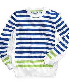 Tommy Hilfiger Kids Sweater, Little Boys Stripe Brian Sweater - Kids Tommy Hilfiger - Macy's