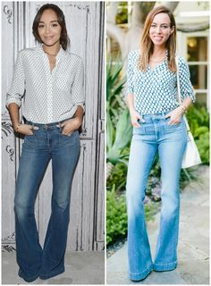 Sydne Summer styles Ashley Madekwe's Flared Jeans in Celebrity fashion, flares, flared jeans