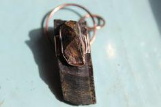 Elven talisman : Falcon Eye and Boulder Opal by crystalflow
