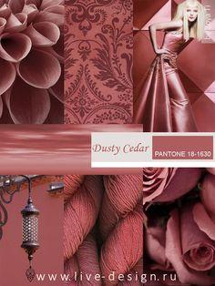 Dusty Cedar / Пыльный Кедр модный оттенок Pantone сезона осень-зима 2016