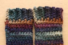 Moorland Leg warmers by a creative being - a free crochet pattern.