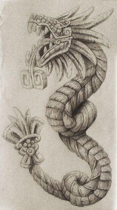 Quetzalcoatl Tattoo by cgbandit.deviantart.com on @DeviantArt