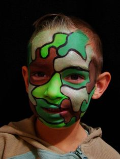 face painting camouflage or soldier this is from a