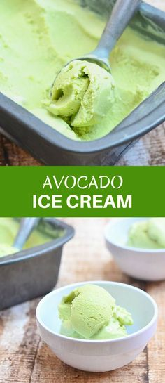 Avocado Ice Cream is creamy, delicious and the perfect treat for hot summer days. It's so easy to make, no ice cream maker needed! via @lalainespins