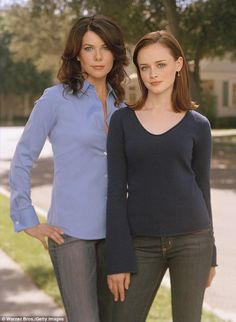 The way we were: Lauren Graham as fast-talking single mother Lorelei Gilmore and Alexis Bledel as her equally smart-mouthed daughter Rory as the stars of The Gilmore Girls back in 2005. It ran from 2000 to 2006