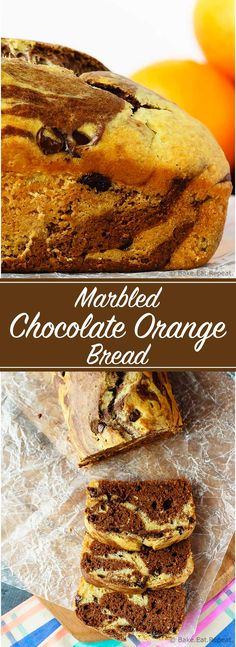 Cake marbré chocolat orange - Marbled Chocolate Orange Bread - This marbled chocolate orange bread is an easy quick bread that is light and fluffy and full of chocolate and orange flavour. Brownie Desserts, Oreo Dessert, Mini Desserts, Coconut Dessert, Dessert Bread, Quick Bread Recipes, Baking Recipes, Sweet Recipes, Marble Cake Recipes