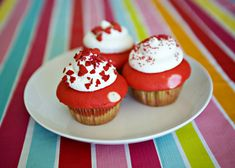 Valentine Cupcakes and a Linky Party    Ingredients        white cake mix      red food coloring      pink food coloring      sprinkles