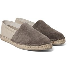 Brunello Cucinelli - Suede and Canvas Espadrilles Brunello Cucinelli 9f28ace0917