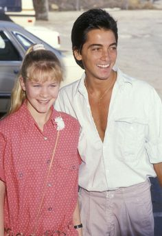 Josie Davis and Scott Baio