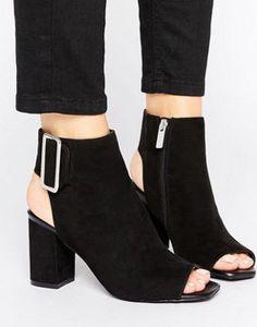 ShoeLab Peep Shoe Boots