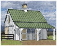 Free complete plans with materials list    Small Horse Barn Plans by Donald J. Berg, AIA
